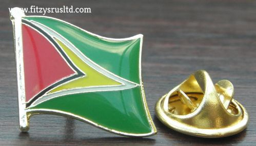 Guyana Country Flag - Lapel - Hat - Cap - Tie Pin Badge Co-operative Republic